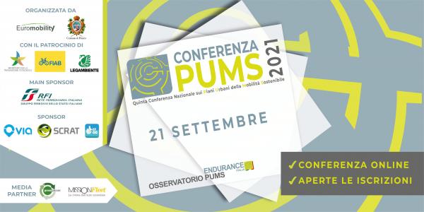 Martedì 21 settembre alle 10:00 si terranno on-line i lavori della Quinta Conferenza Nazionale sui Piani Urbani della Mobilità Sostenibile